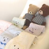 毛巾/【熊。古錐】柔毛刺繡/100% 純棉